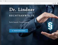 Dr. Lindner Law Office // Website Relaunch